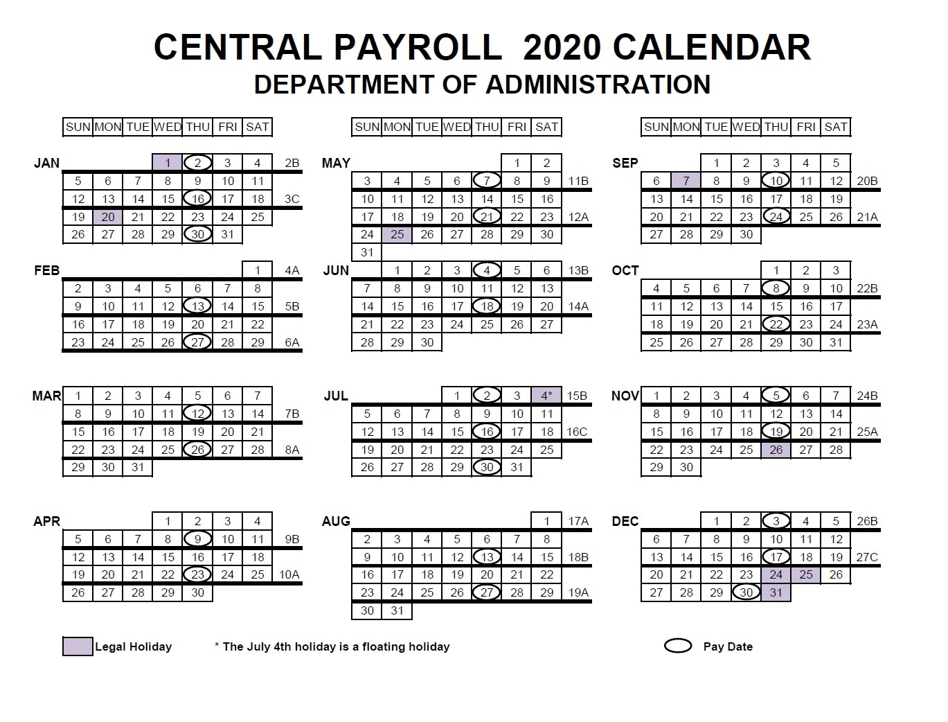 Fortnightly Pay Calendar 2021 Australia | 2021 Pay Periods