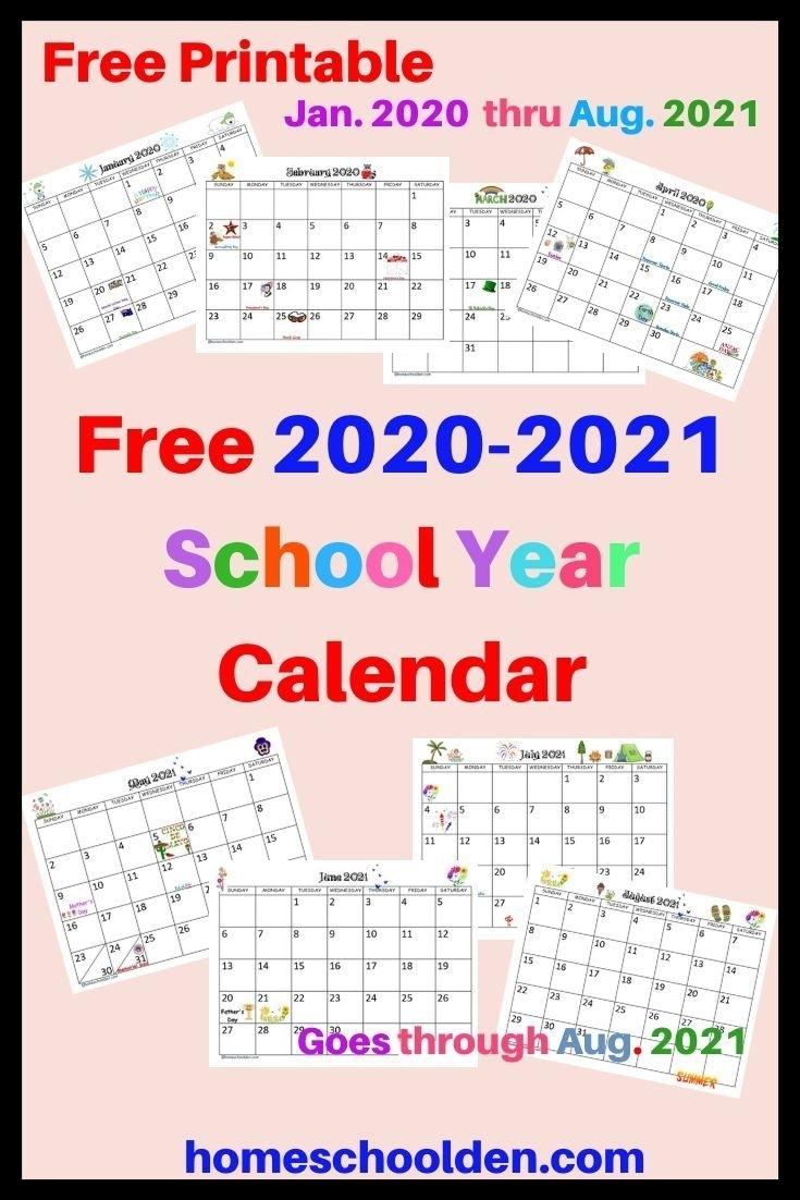 Free 2020-2021 Calendar Printable In 2020 | School Calendar inside Free Kindergarten Calendar Template 2019