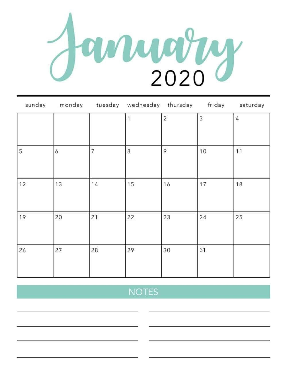 Free 2020 Printable Calendar Template 2 Colors I May 2020 intended for Blank Calendar 2020 Printable Monthly