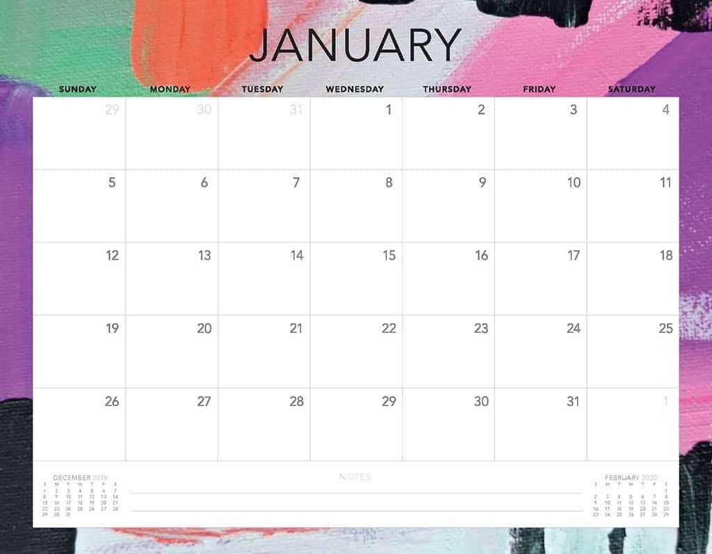 Free 2020 Printable Calendars - 51 Designs To Choose From! inside 2020 Calendar Printable Free Pdf Color