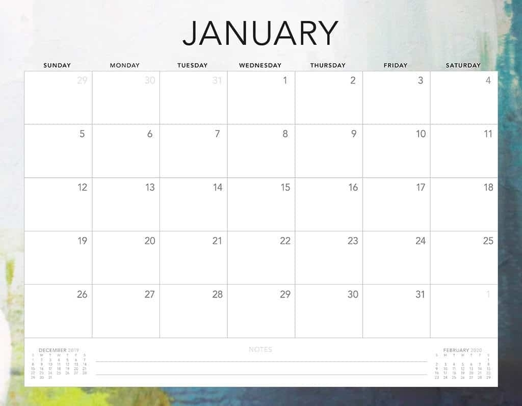 Free 2020 Printable Calendars - 51 Designs To Choose From! regarding 2020 Monthly Calendar Monday Start Printable Free