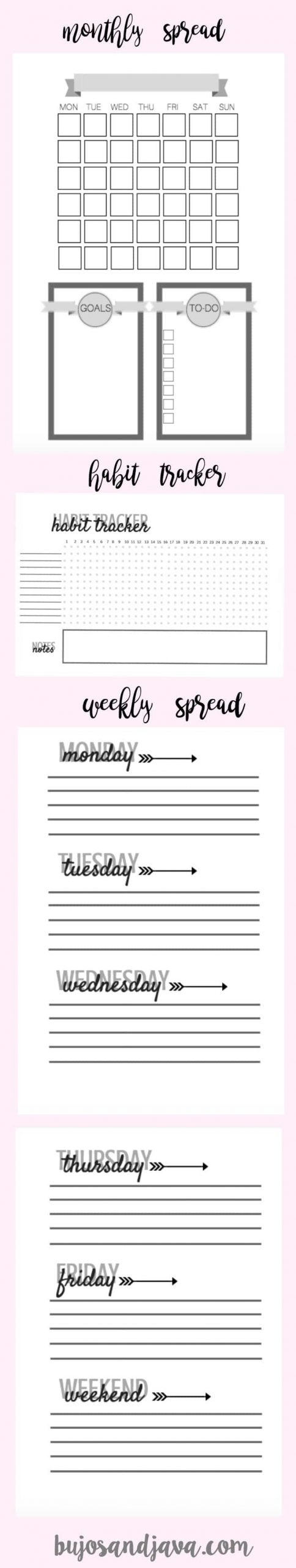 Free Bullet Journal Printables: Weekly, Monthly, And Habit