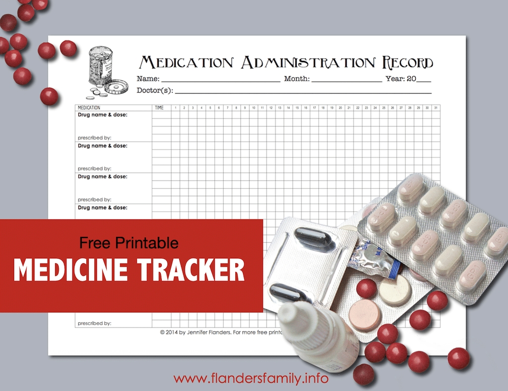 Free Chart For Keeping Track Of Medications - Flanders throughout Medication Sheets For 7 Days