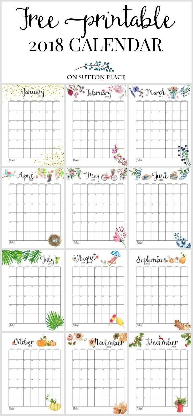 Free Floral 2020 Printable Calendar | On Sutton Place