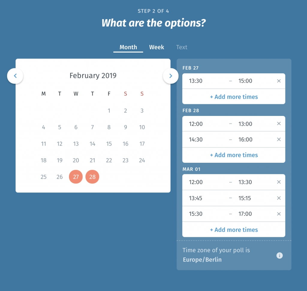 Free Online Schedule Maker - Plan Meetings And More! | Doodle