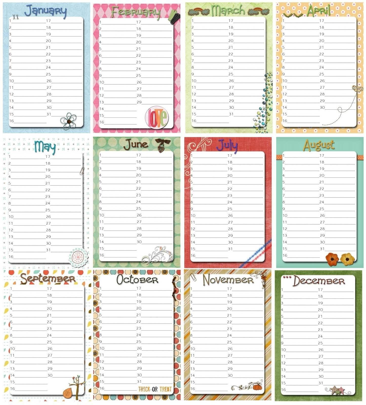 Free Perpetual Calendar Template   Posts Related To inside Free Printable Perpetual Calendar Template