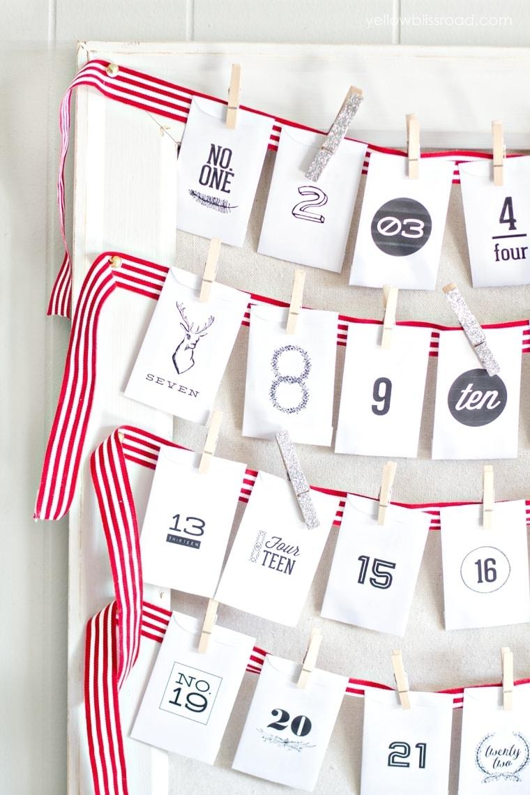 Free Printable Advent Calendar With Activity Ideas (Diy)
