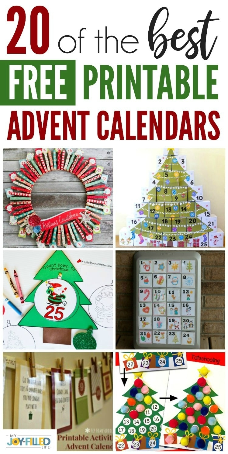 Free Printable Advent Calendars - My Joy-Filled Life