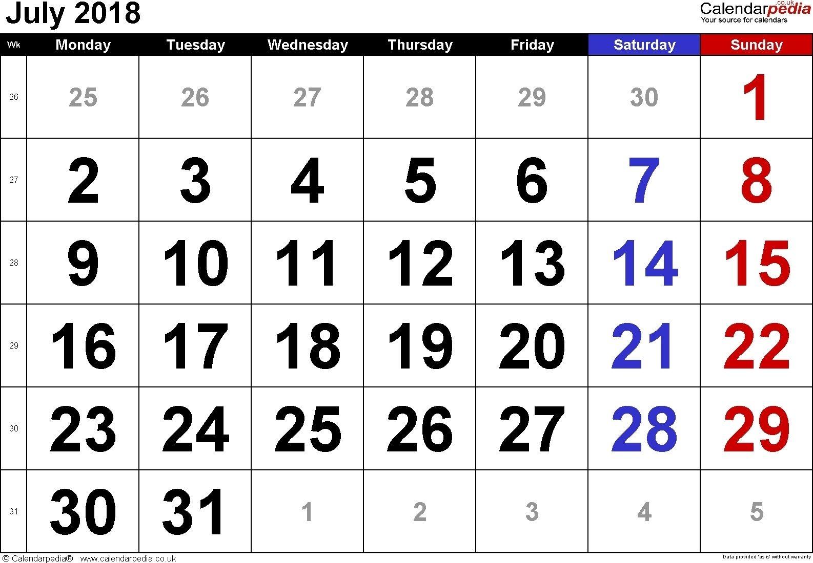 Free Printable Calendar Large Numbers In 2020 | Printable