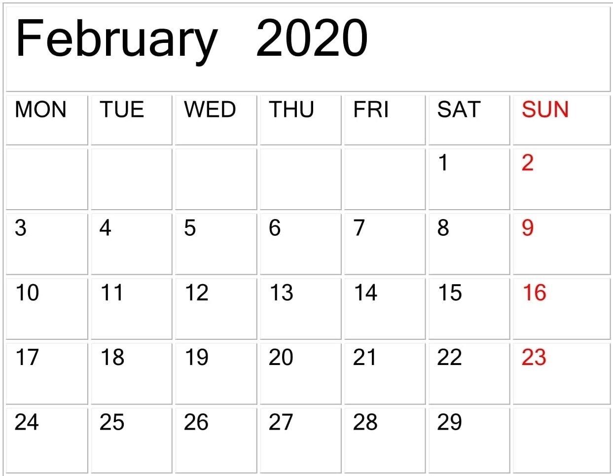 Free Printable Calendar Large Print In 2020 | Printable with Free Printable 2020 Calendars Large Numbers