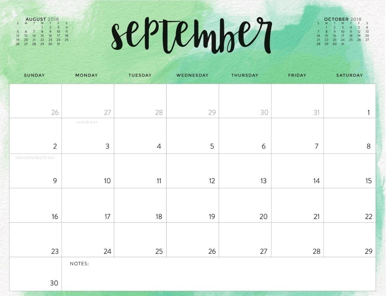 Free Printable Calendar Waterproof In 2020 | September