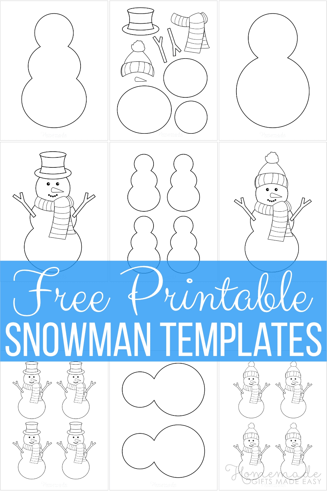 Free Printable Snowman Templates For Crafts