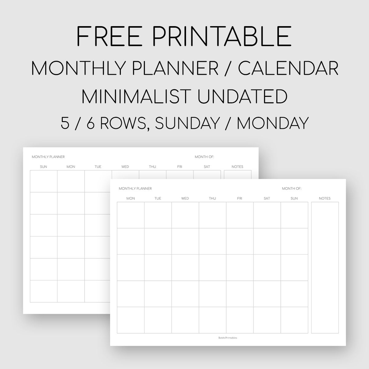 Free Printable Undated Monthly Calendar In 2020 | Monthly regarding Undated Free Monthly Calendar Printable Free