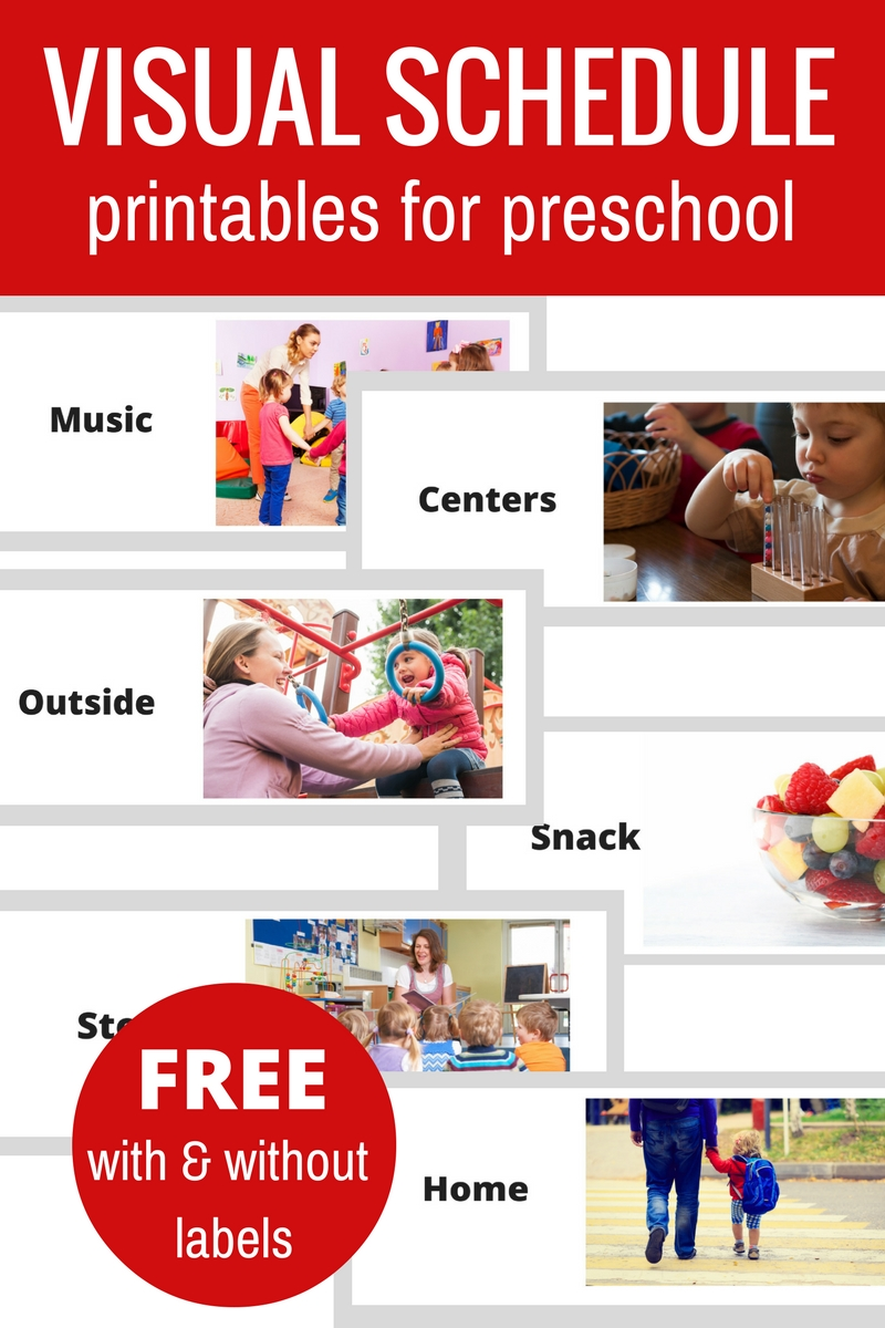 Free Printable Visual Schedule For Preschool - No Time For