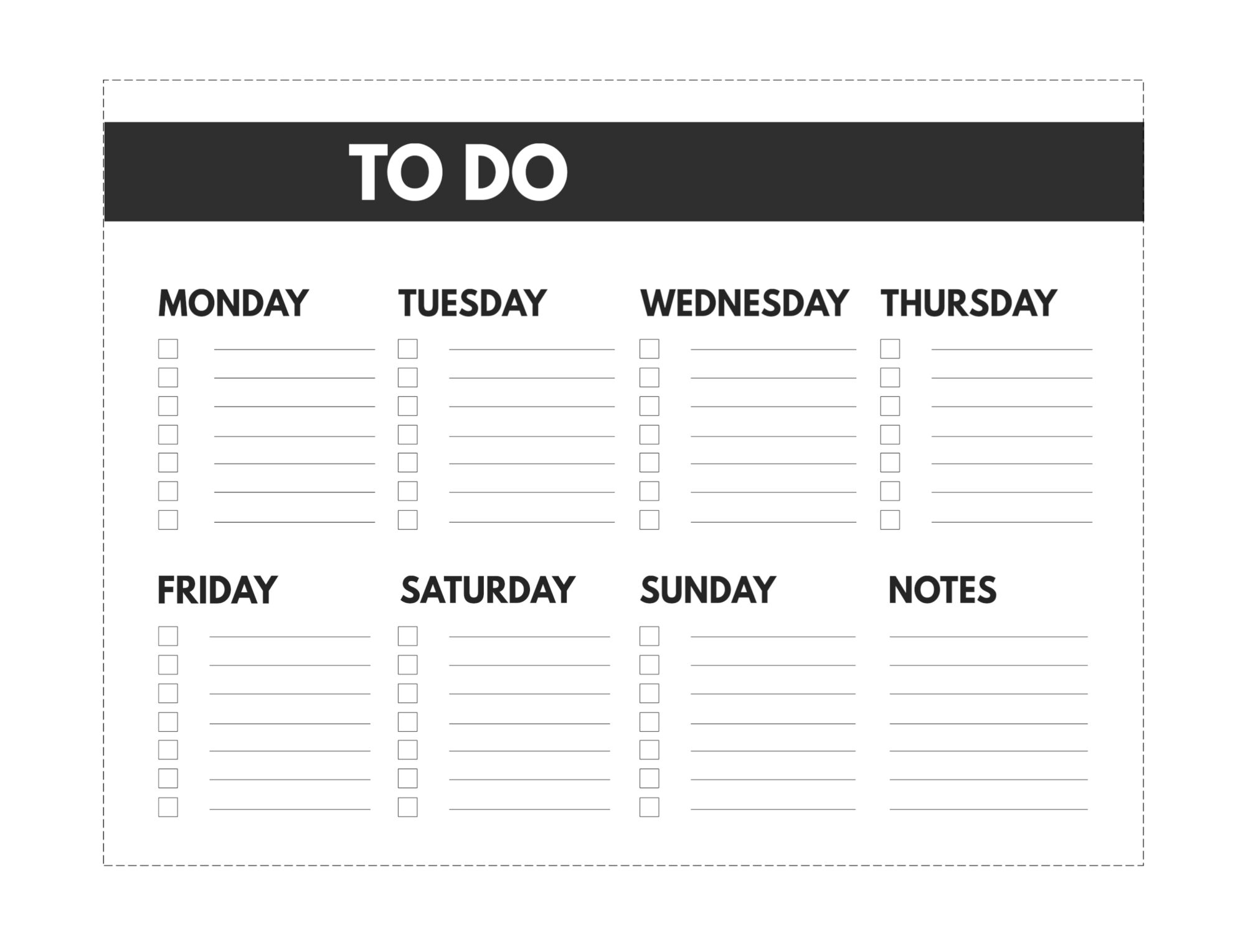 Free Printable Weekly To Do List | Paper Trail Design