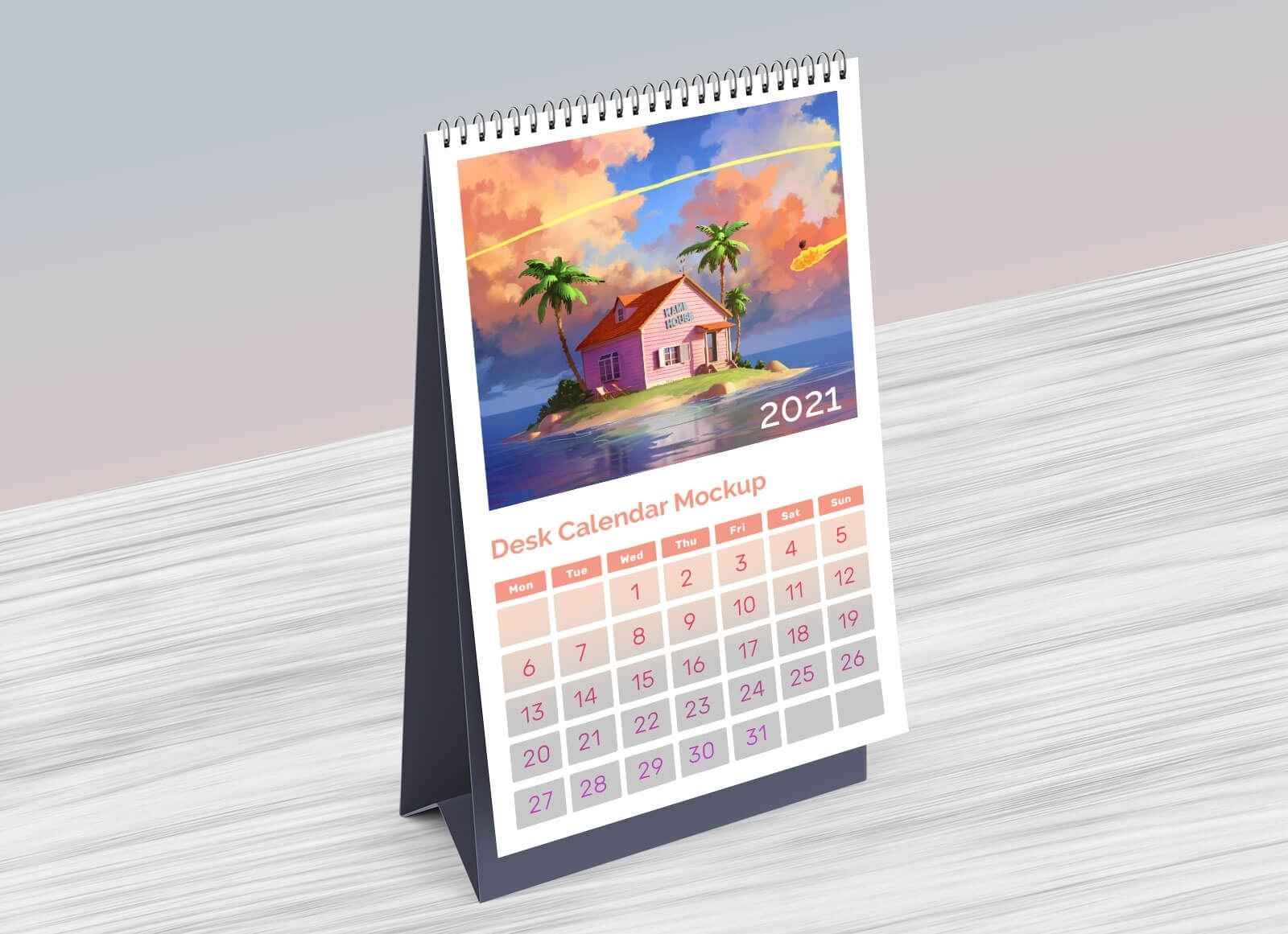 Free Table / Desk Calendar 2021 Mockup Psd - Good Mockups