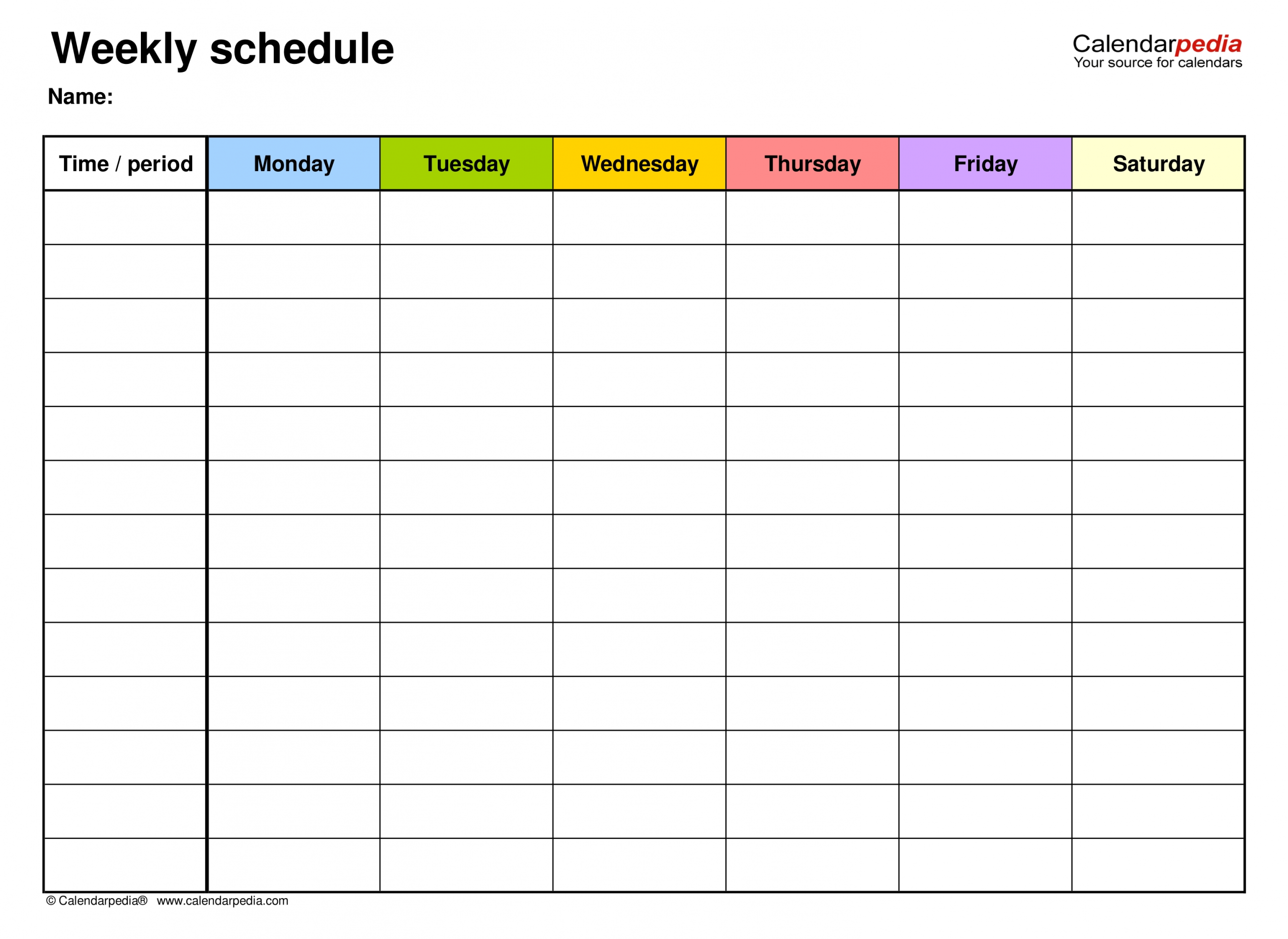 Free Weekly Schedule Templates For Pdf - 18 Templates