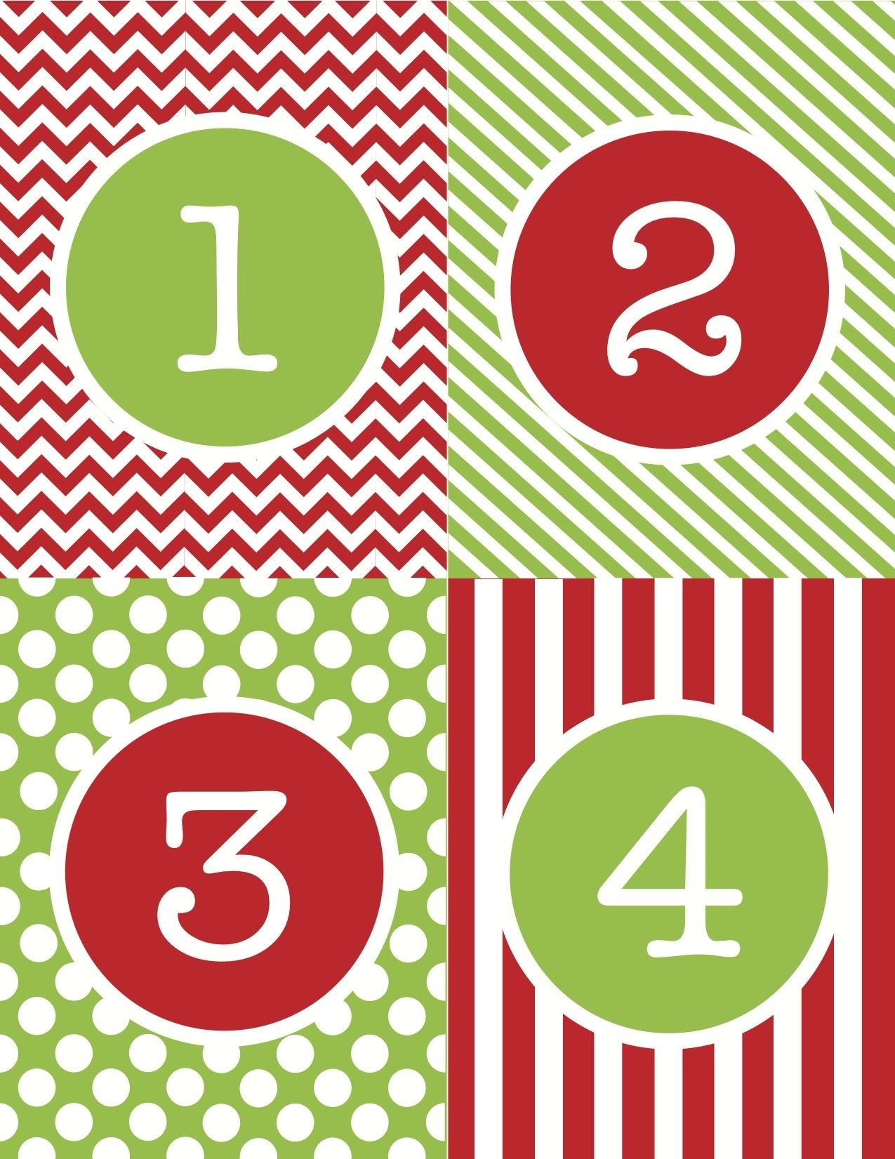 Free+Printable+Advent+Calendar+Numbers | Printable Advent