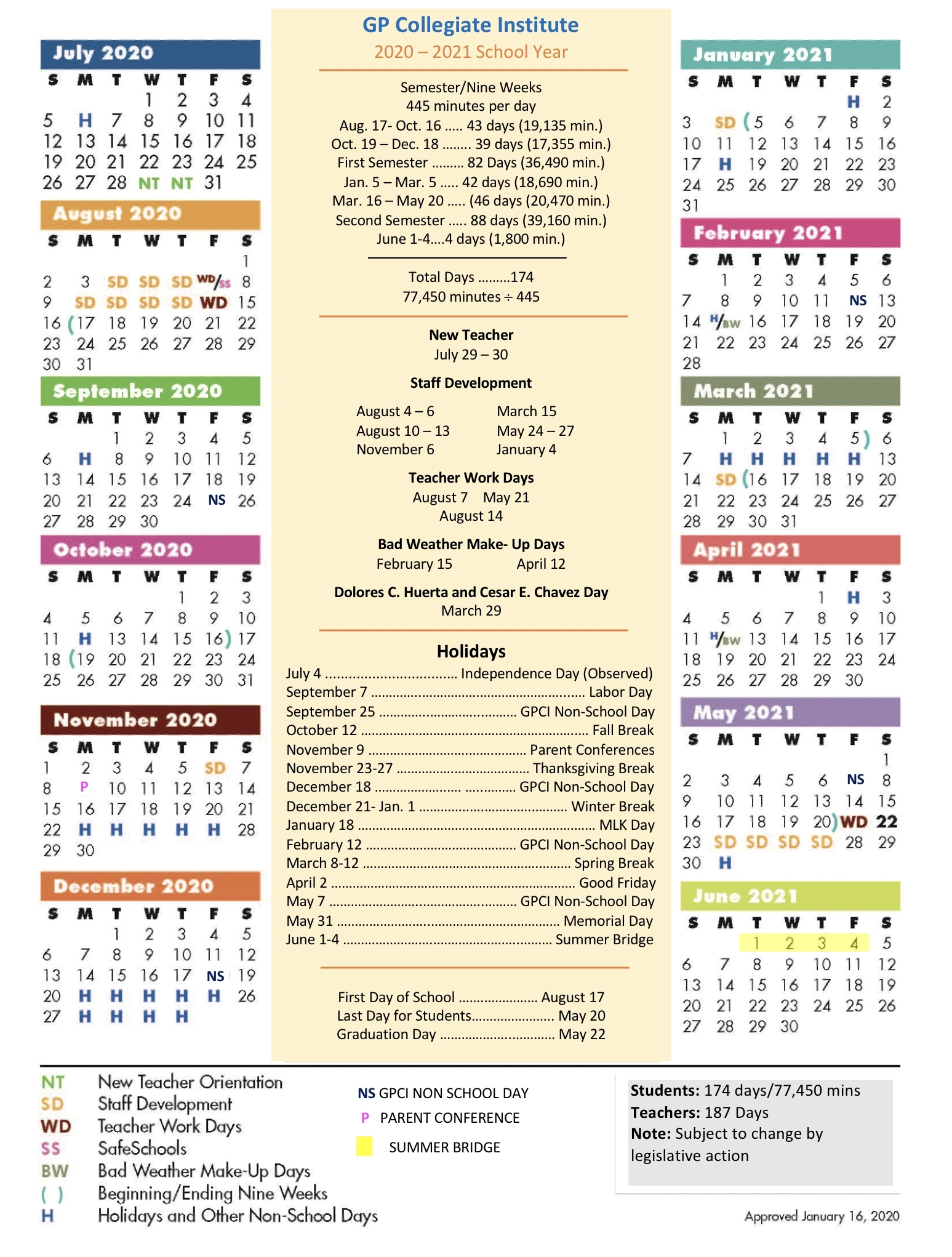 Grand Prairie Collegiate Institute / Grand Prairie throughout Stephen F Austin Calendar 2019-2020