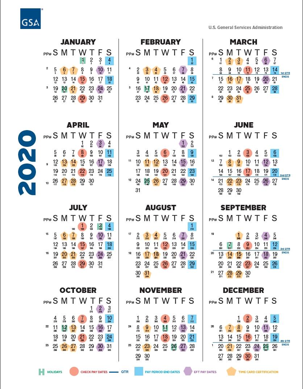 Gsa Payroll Calendar 2021 | Payroll Calendar