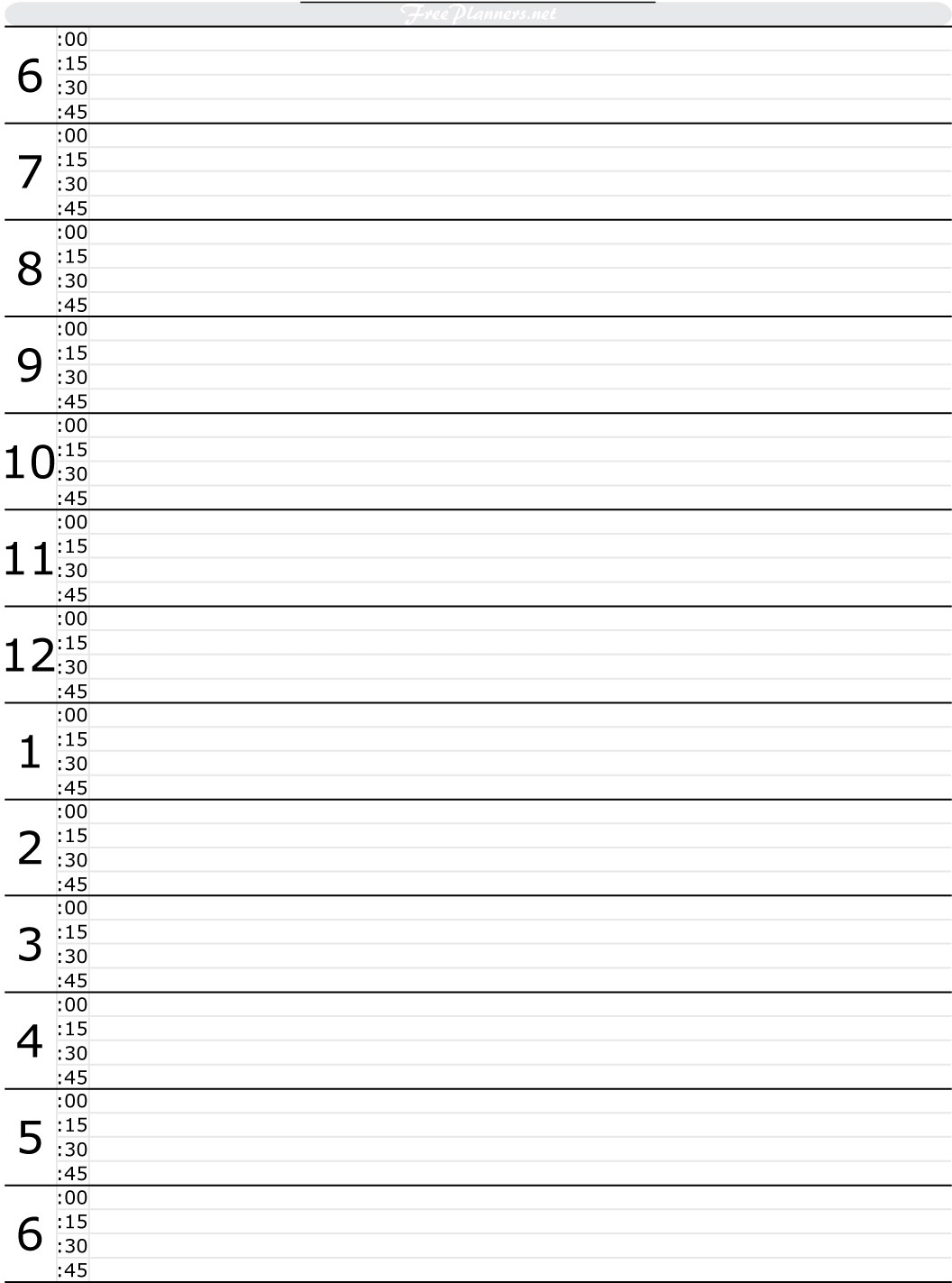 Hourly Day Planner Worksheet | Printable Worksheets And