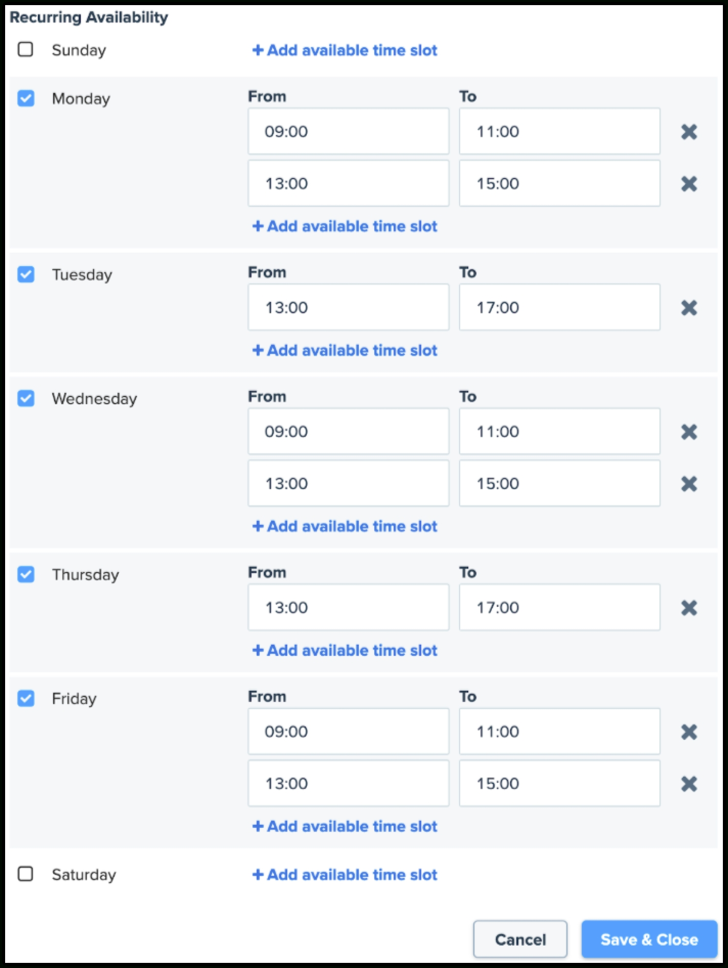 How Does Clio Scheduler Determine What Time Slots Are