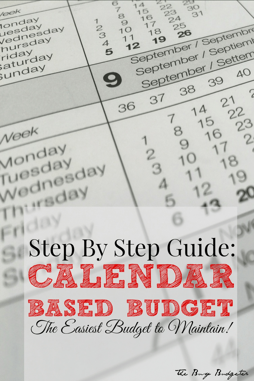 How To Create A Calendar Budget: Easy, Stepstep