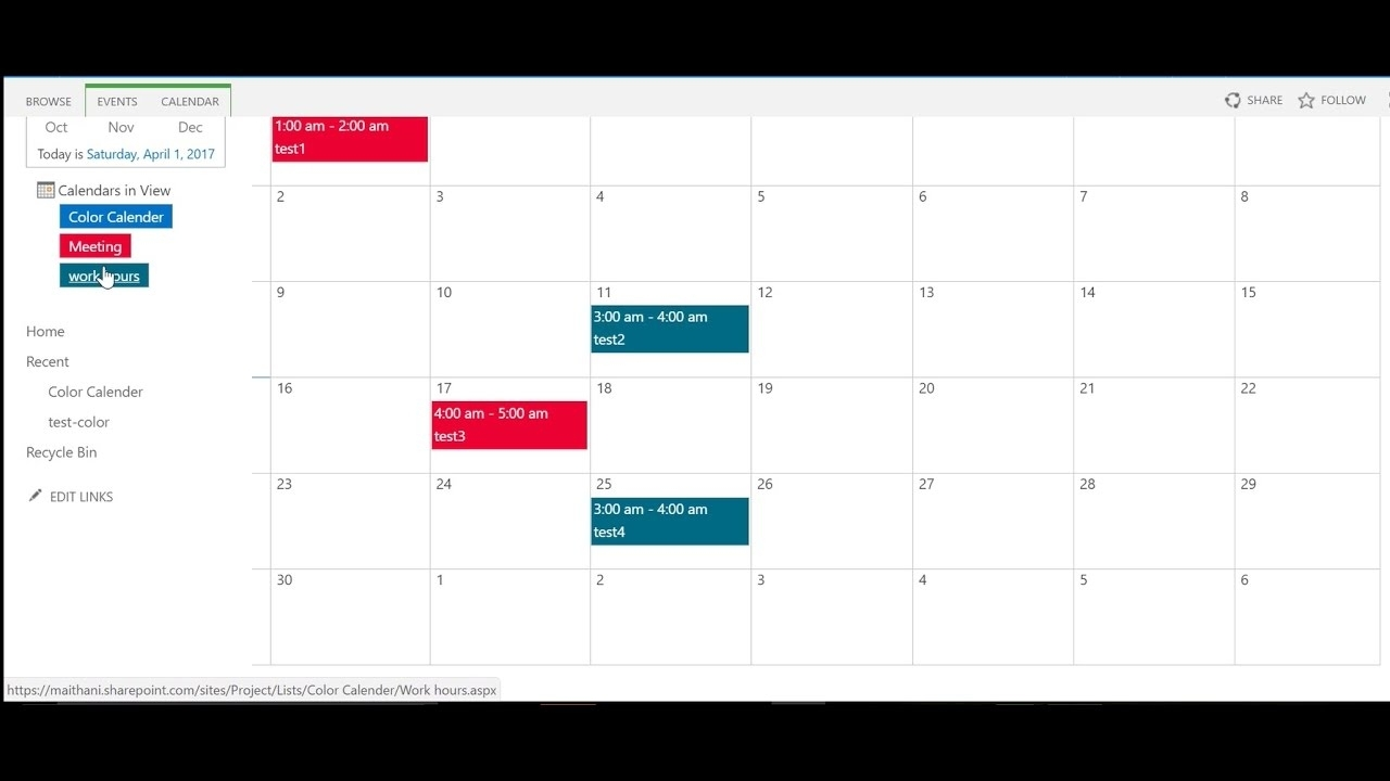 How To Create Color Coded Calendar In Sharepoint 2013