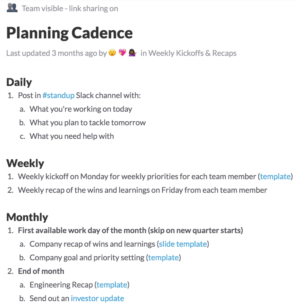 How To Document Weekly Check-In Meetings With Your Team