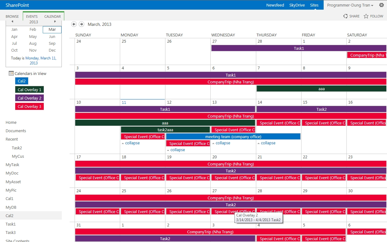 How To Overlay Calendars In Sharepoint 2013 – Sharepoint And
