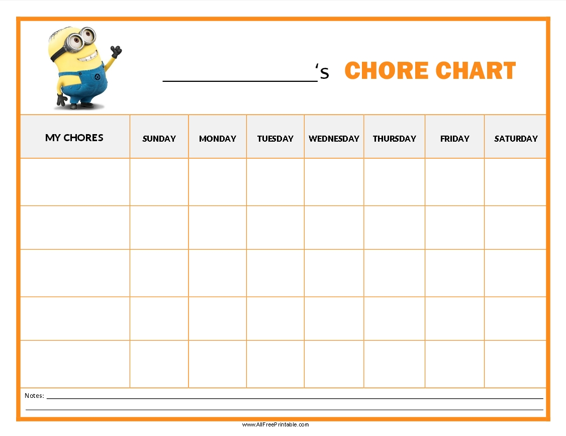Http://Allfreeprintable/Minions-Chore-Chart | Chore
