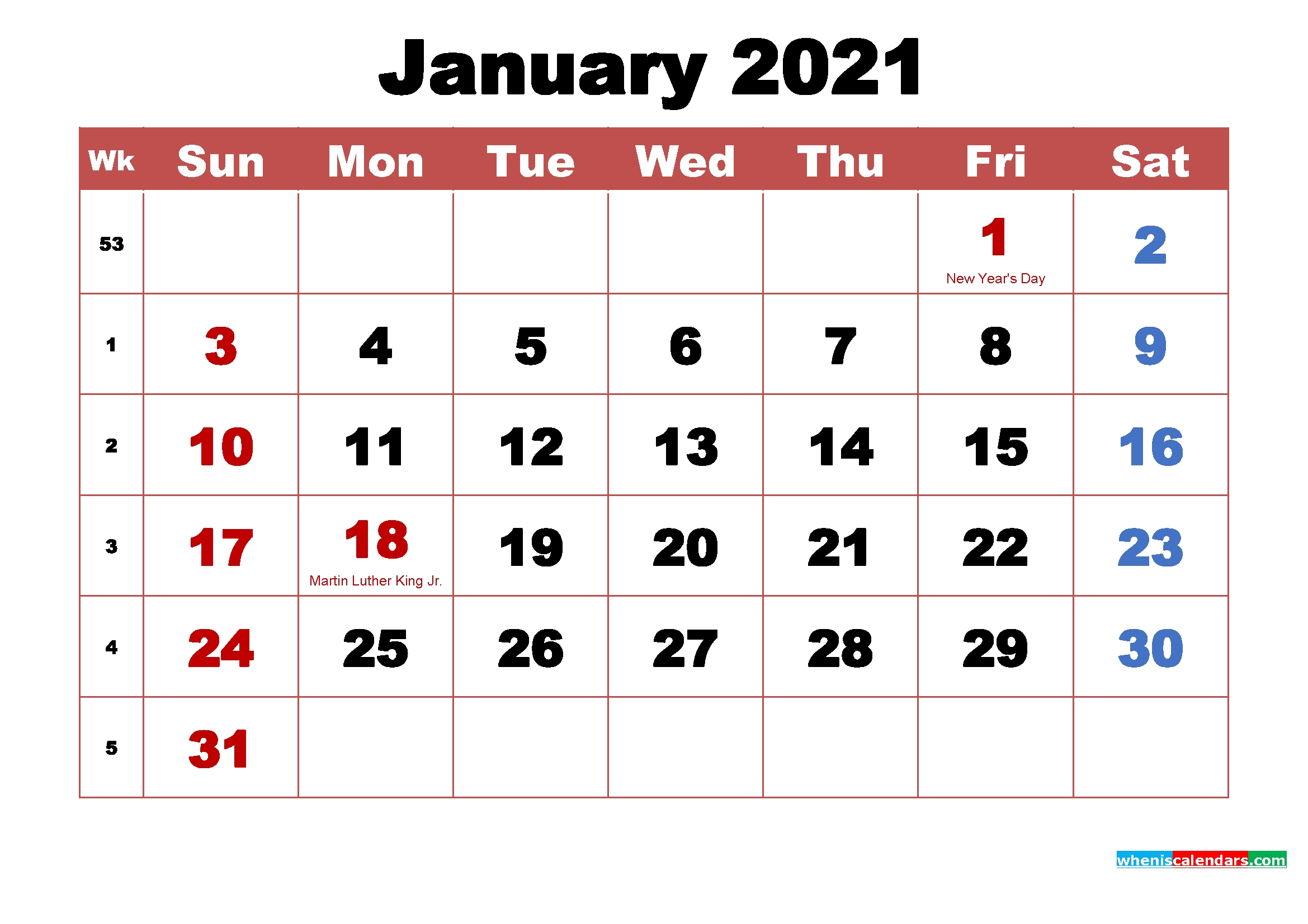 January 2021 Calendar Wallpapers - Top Free January 2021