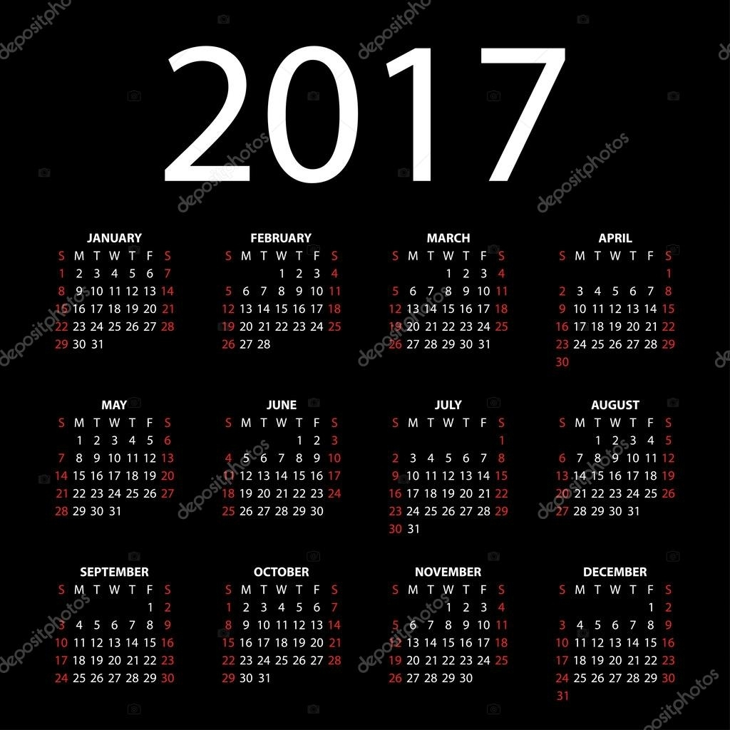 June 2017 Calendar Stock Vectors, Royalty Free June 2017