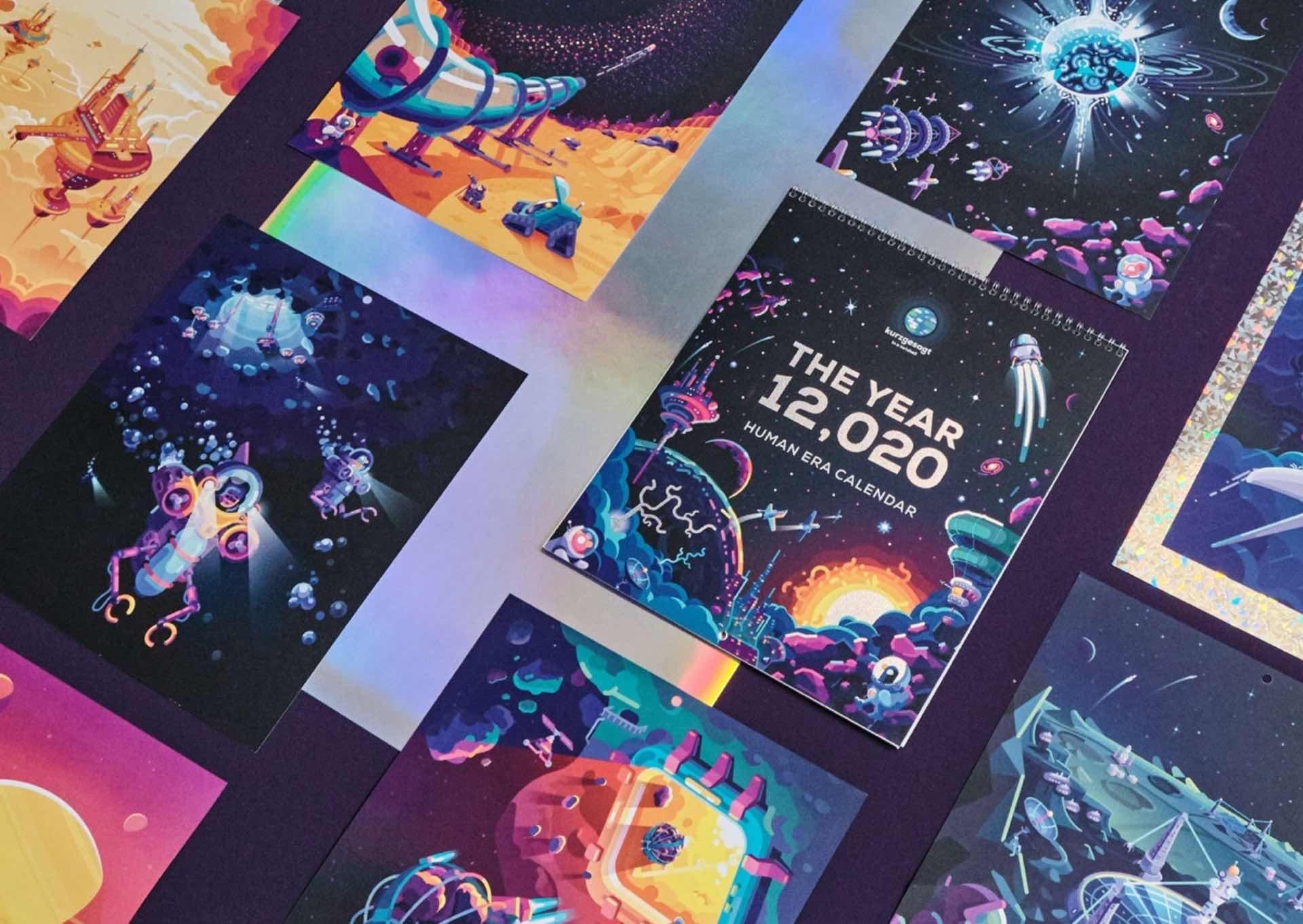"""Kurzgesagt """"12,020 Human Space Era"""" Calendar — Tools And Toys"""