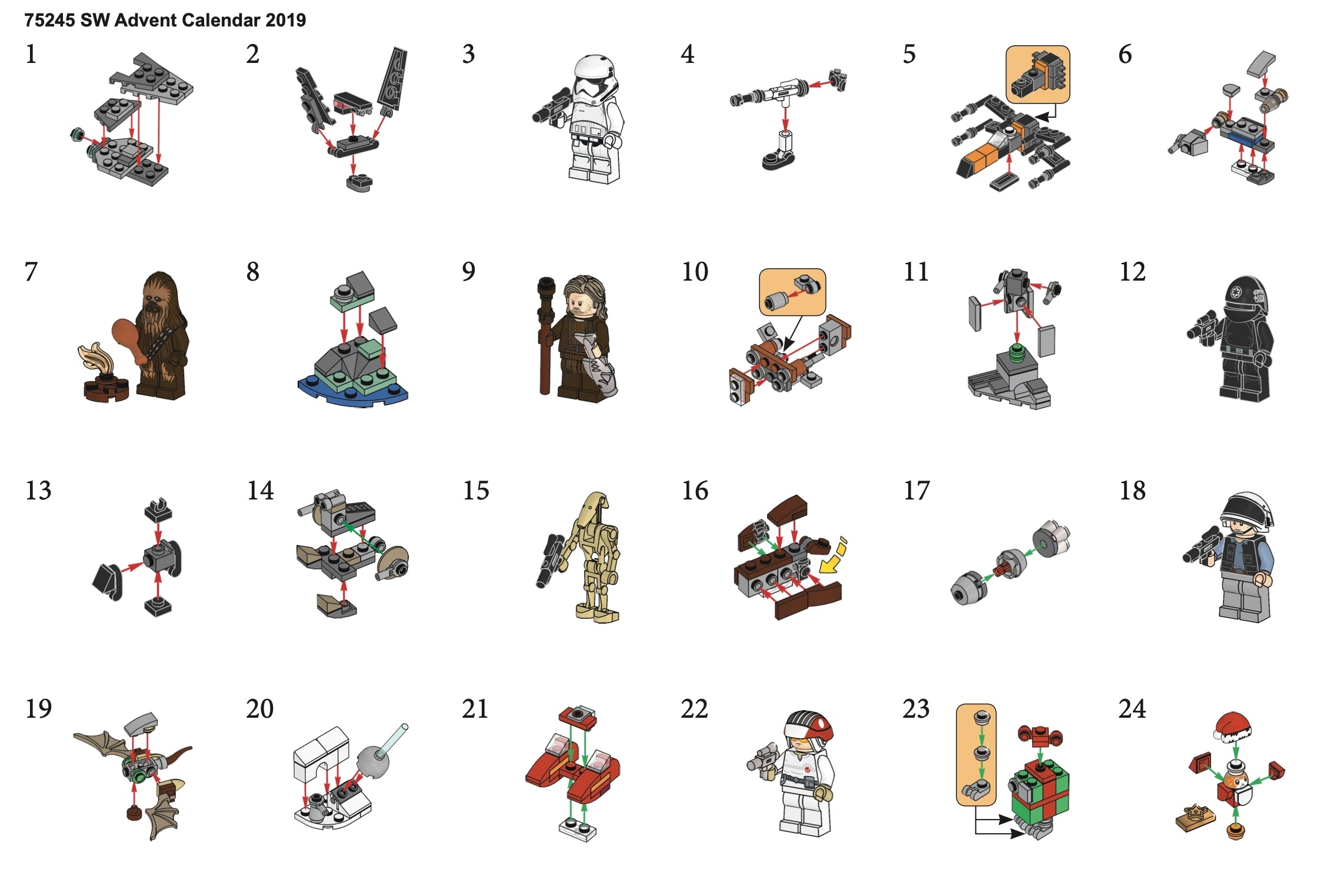 Lego 75245 Star Wars Advent Calendar Instructions, Star Wars inside Lego Star Wars Callendar 2019