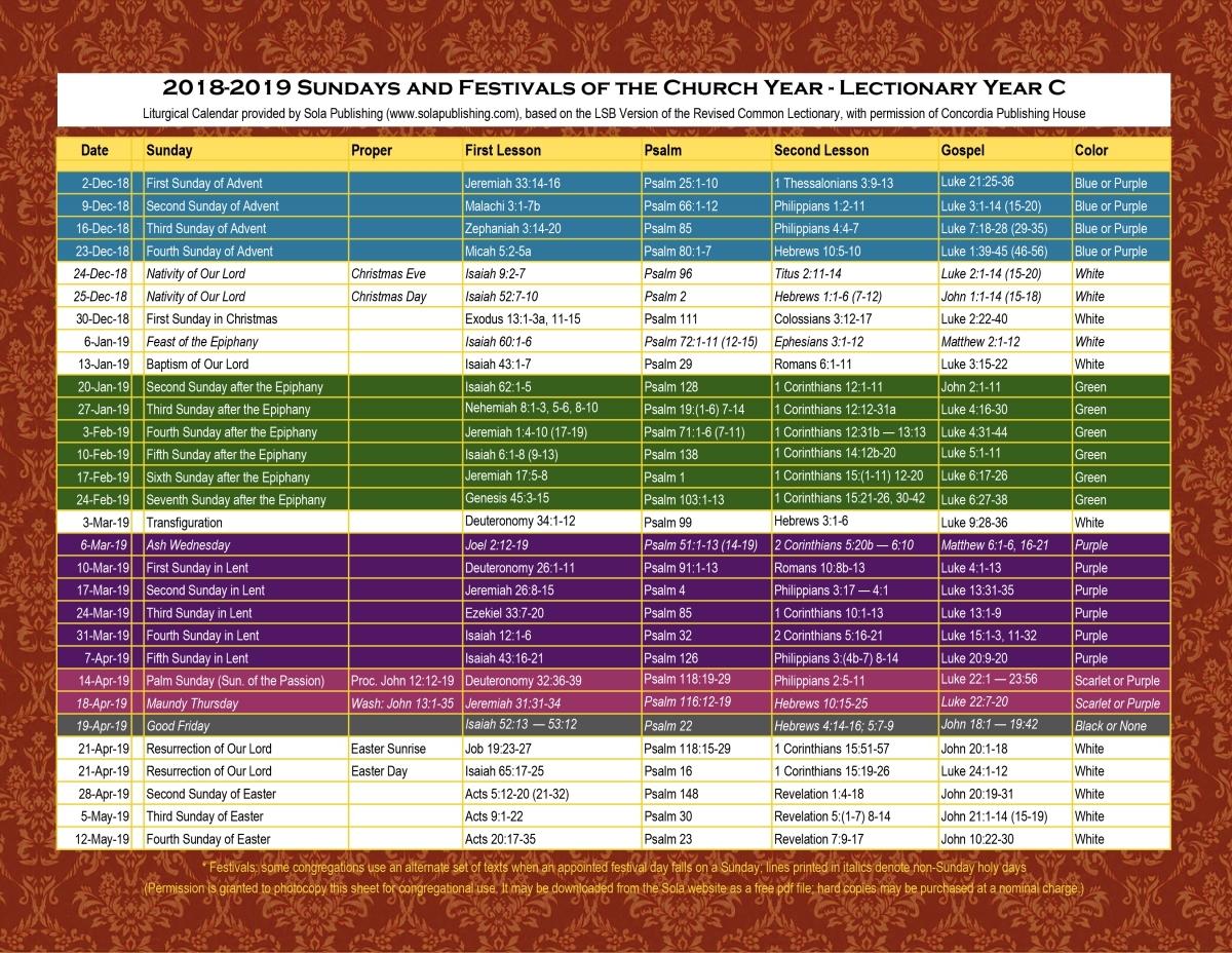 Liturgical Calendar 2019 2020 Catholic - Calendar pertaining to The Year 2020 Liturgical Calendar