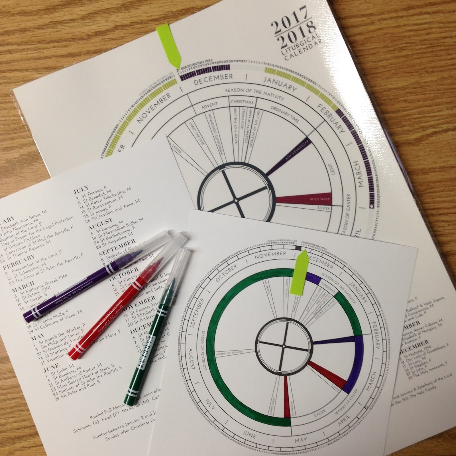 Look To Him And Be Radiant: Learning About The Liturgical throughout Liturgical Year Printable Calendars Catholic