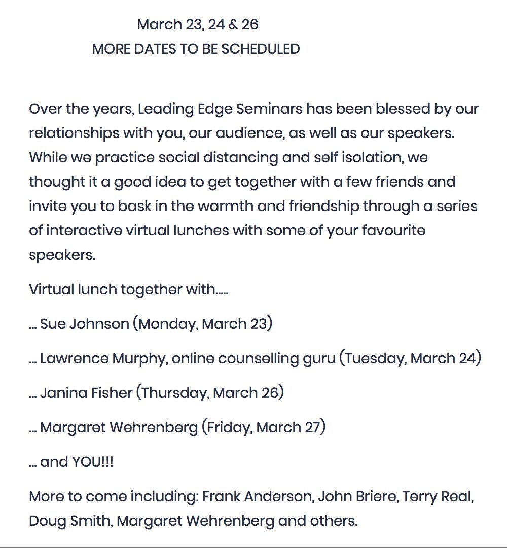 "Max Kerman On Twitter: ""My Dad'S Biz, Leading Edge Seminars"