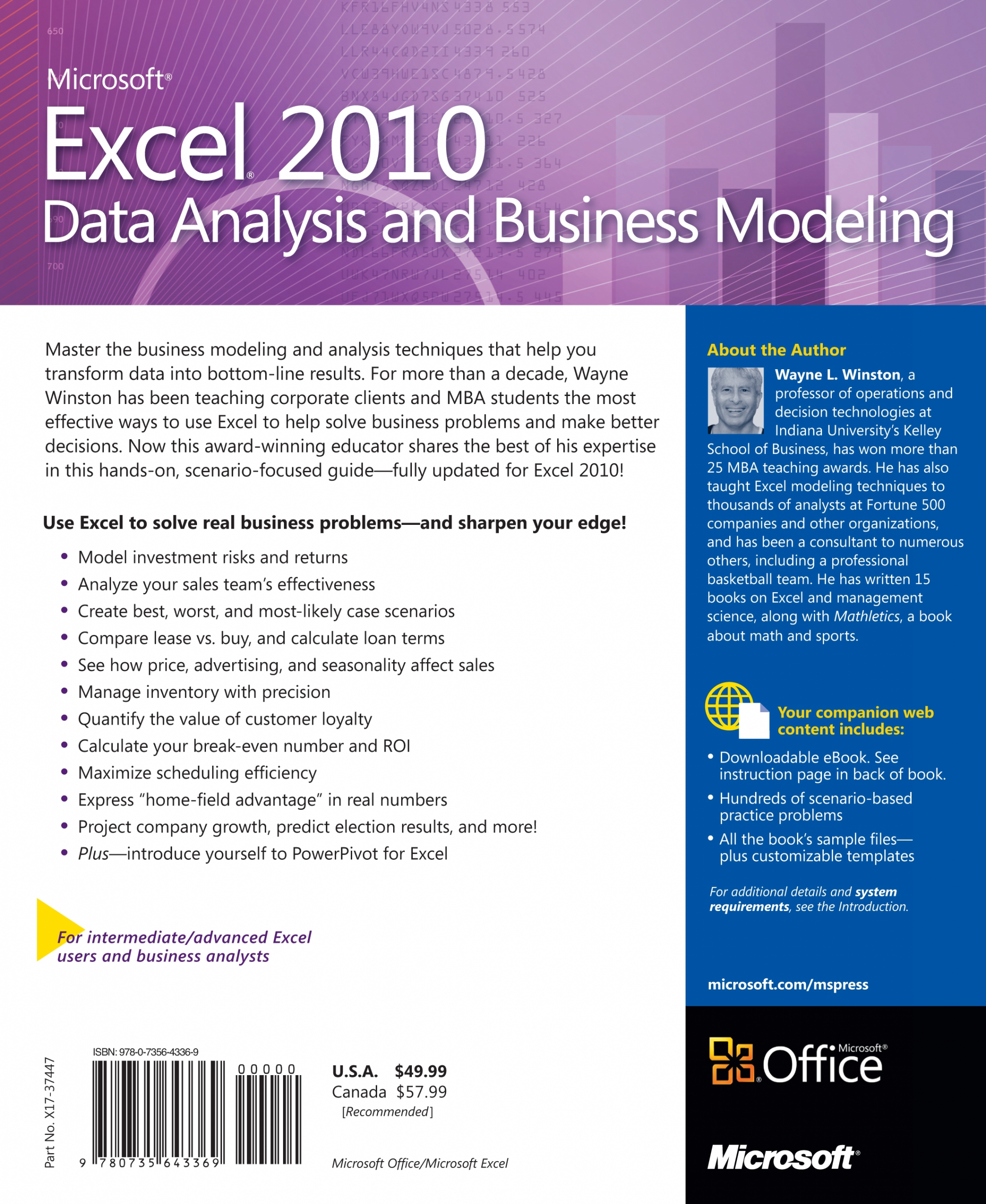 Microsoft® Excel 2010 Data Analysis And Business Modeling