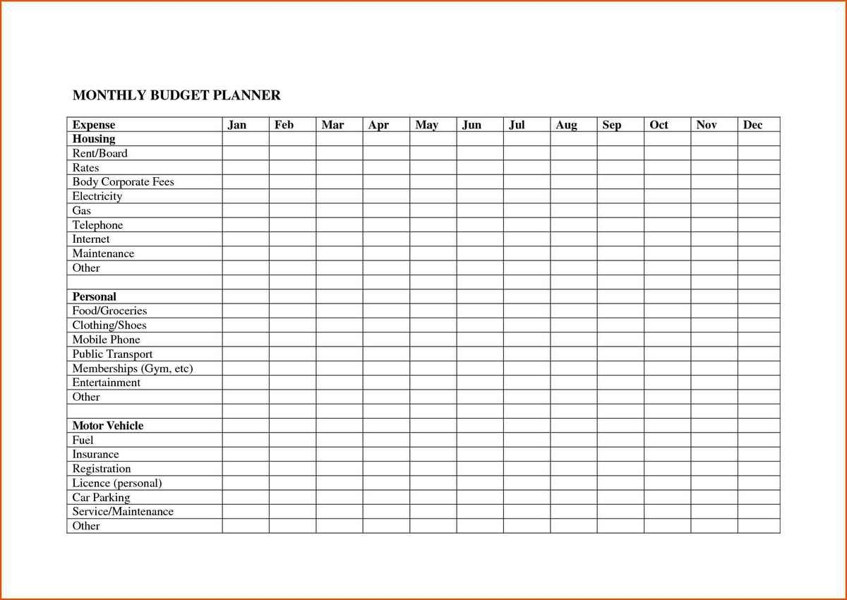 Monthly Expense Calendar Spreadsheet Template Budget Example
