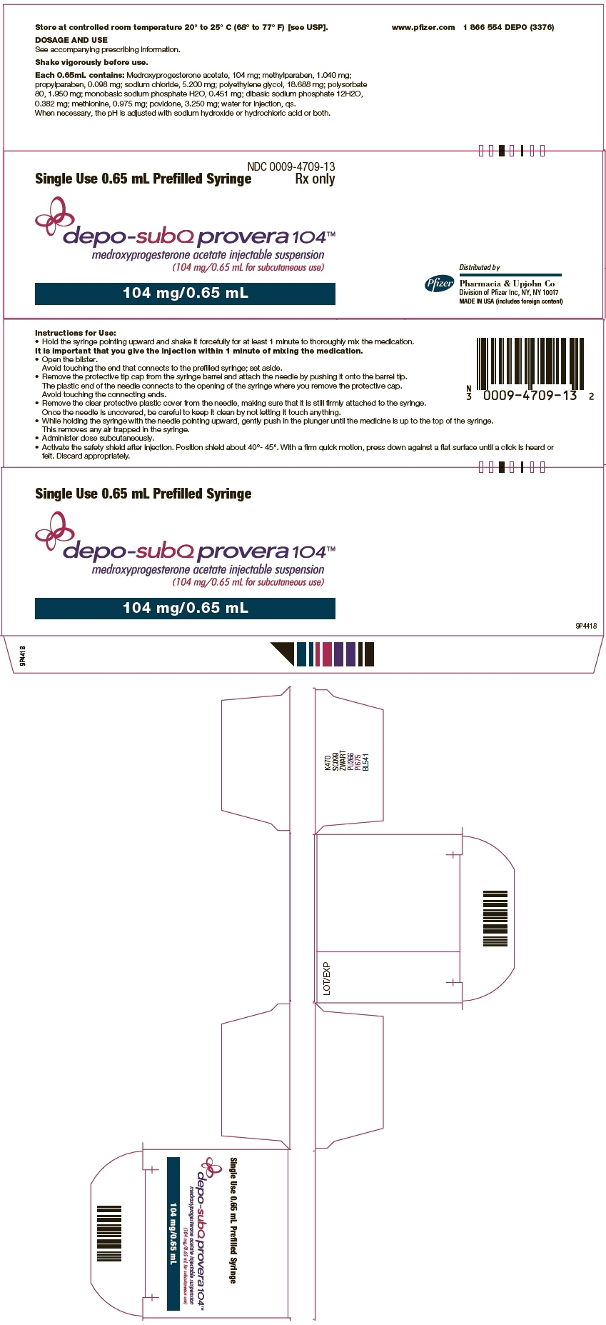 Ndc 0009-4709 Depo-Subq Provera Medroxyprogesterone Acetate