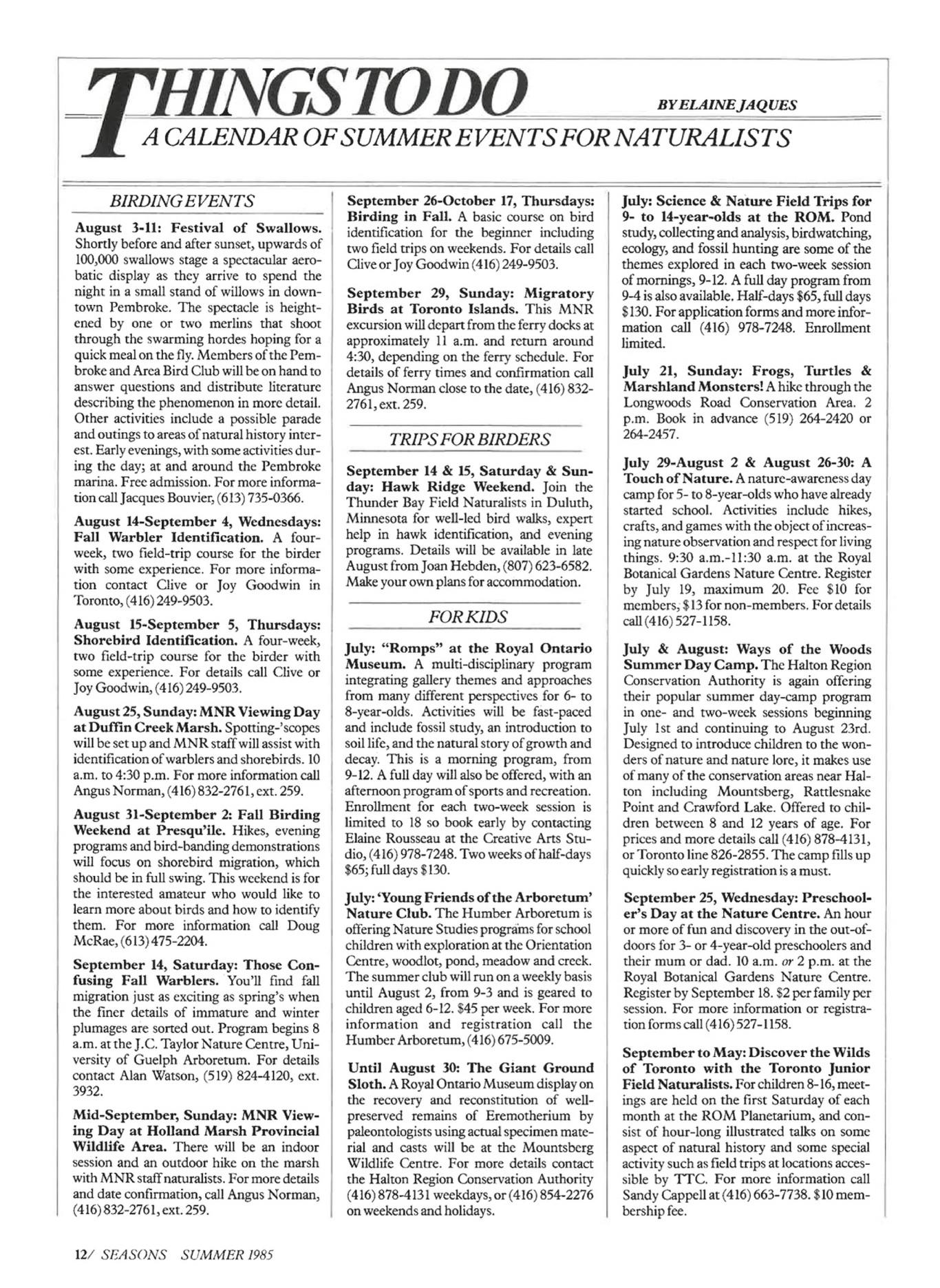 On Nature Magazine - Summer_1985 - Page 6-7