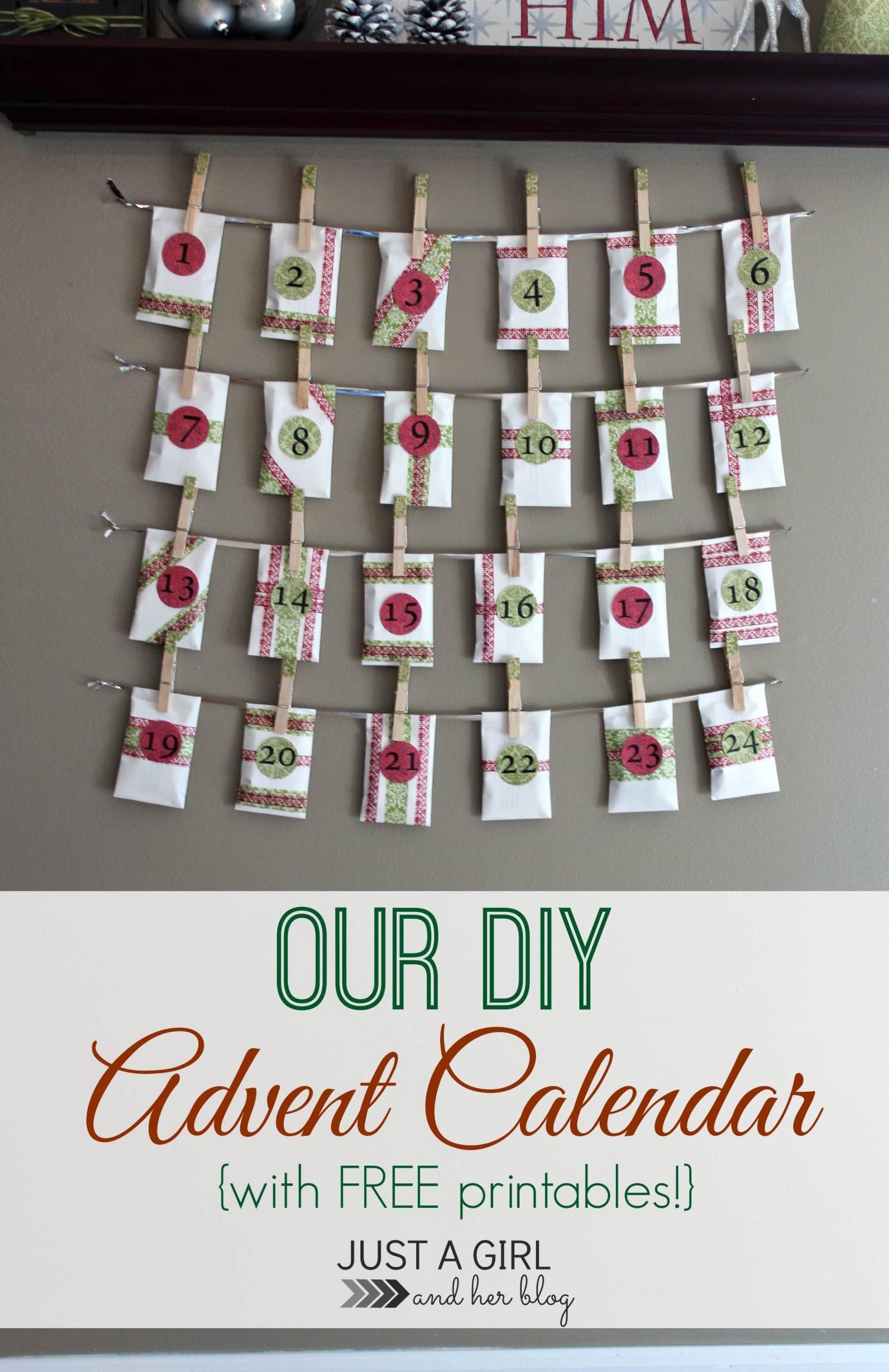 Our Diy Advent Calendar (With Free Printables!) | Abby Lawson