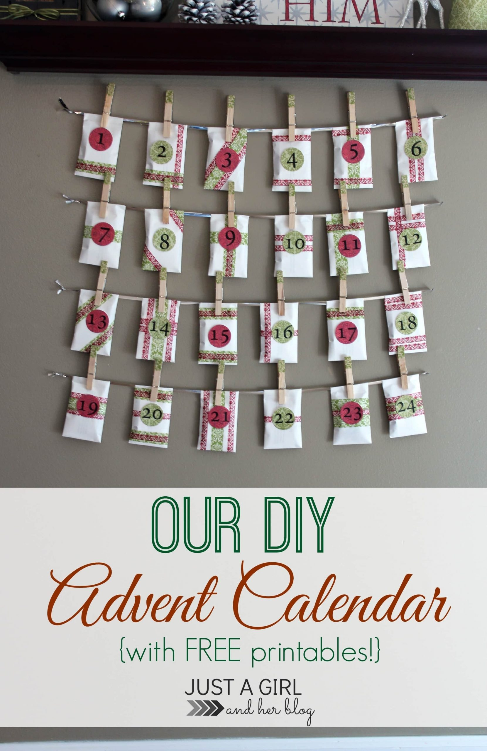 Our Diy Advent Calendar (With Free Printables!) | Abby Lawson with regard to Verses For Your Advent Calender