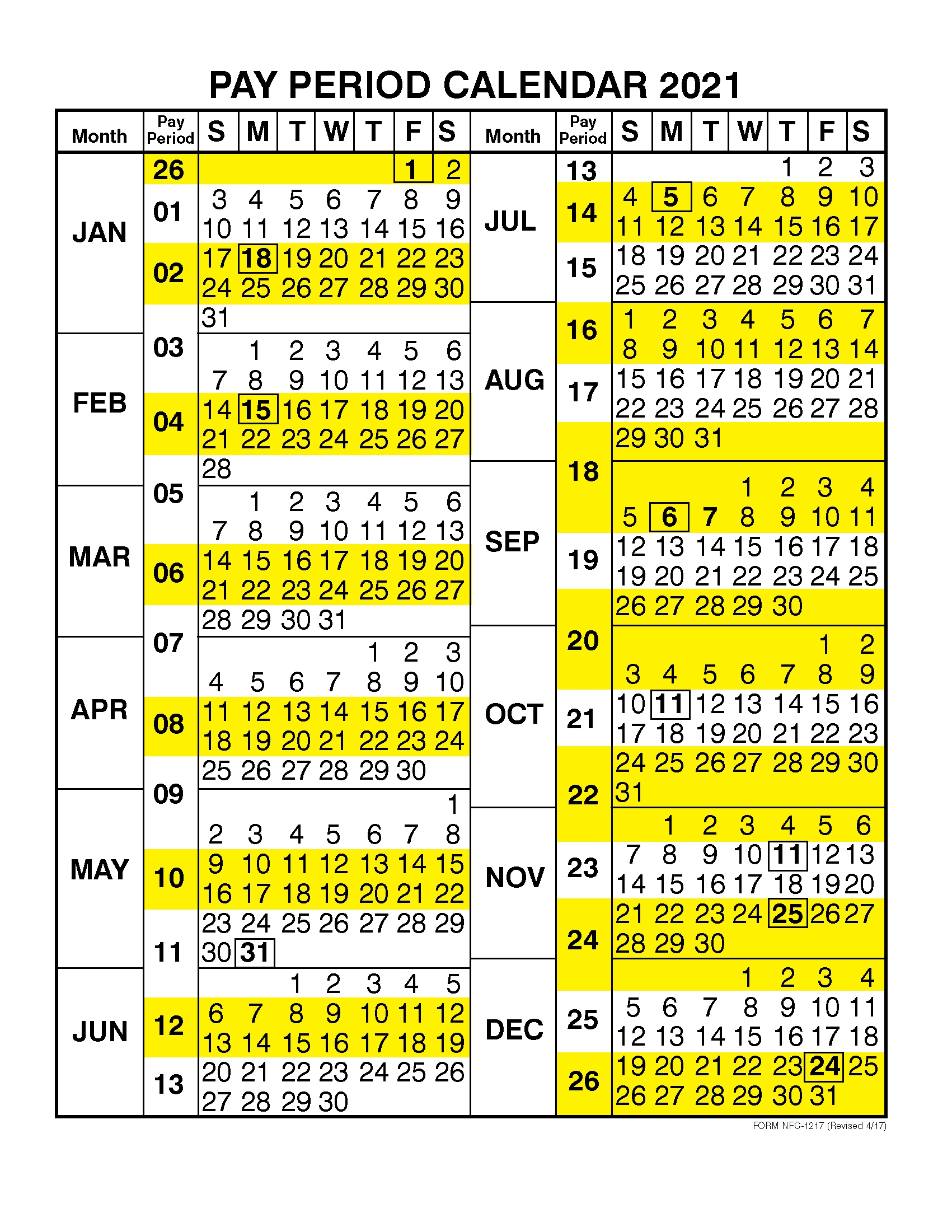 Pay Period Calendar 2021Calendar Year – Free 2020 And pertaining to Federal Civilian Pay Periods 2020