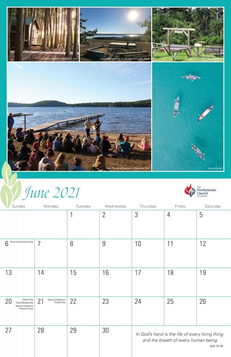 Pcc Wall Calendar | The Presbyterian Church In Canada for Printable Presbyterian 2020 Liturgical Color Calendar