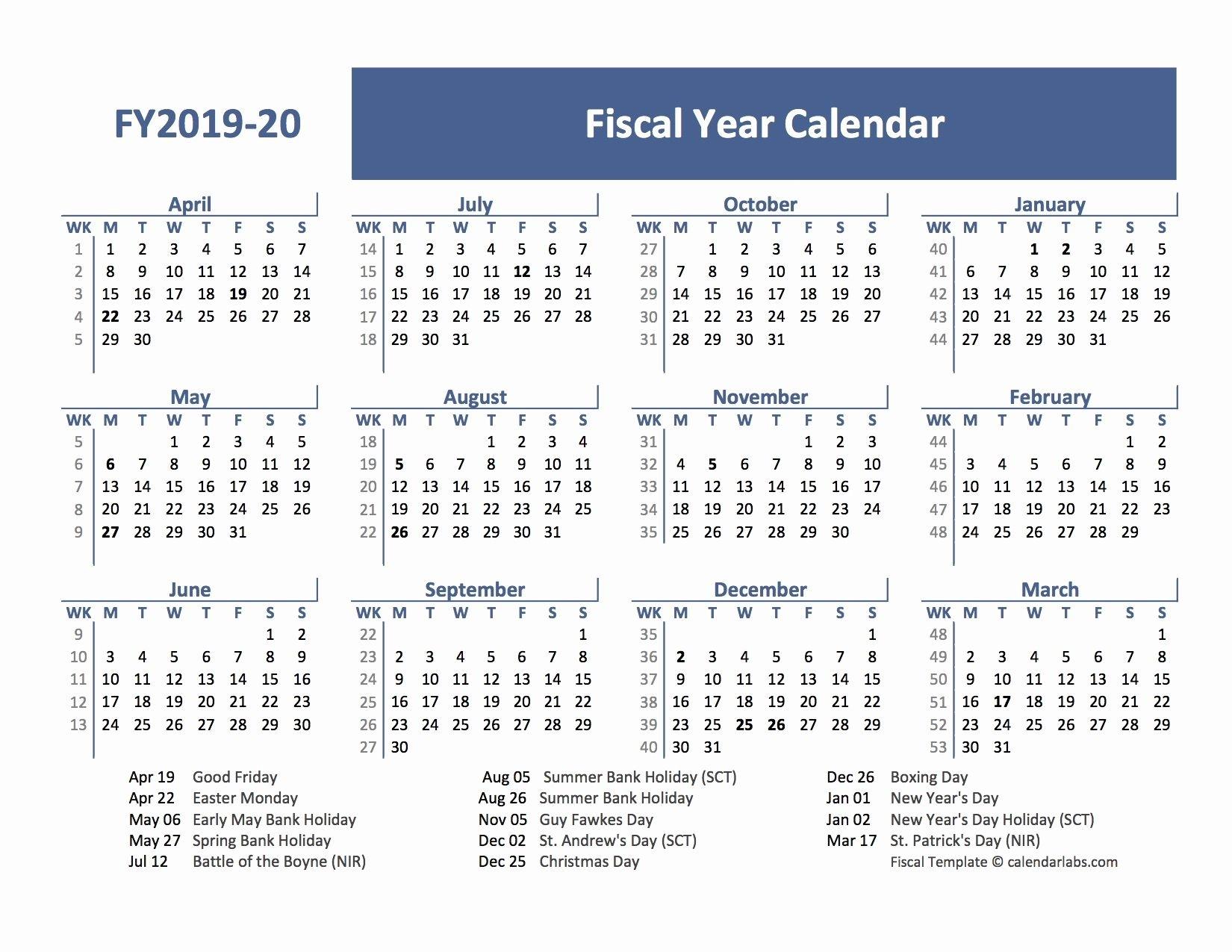 Pin On Calendar Printable 2019-2020 throughout Financial Calendar 2019-2020 In Weeks
