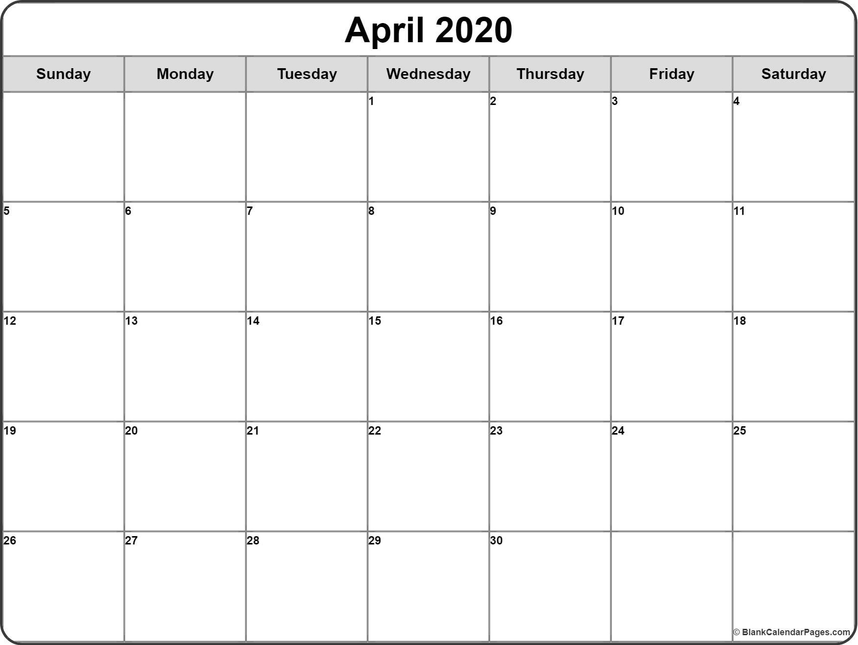 Pin On Craft Fairs for Blank Calendar 2020 Printable Monthly
