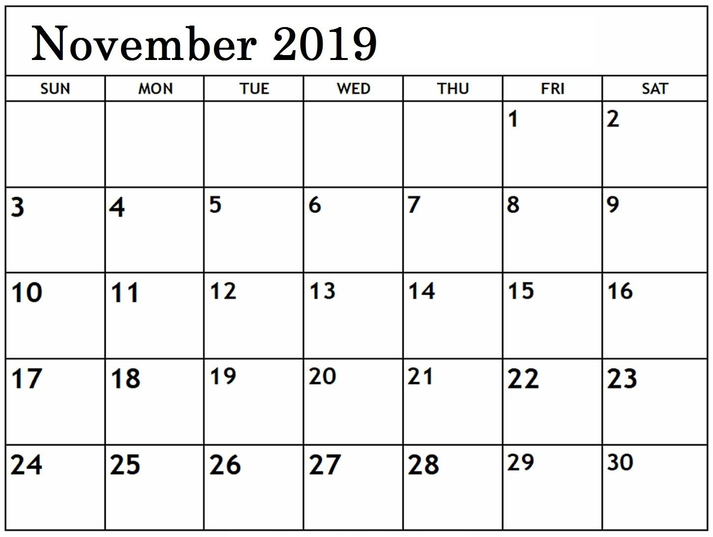 Pin On Printable Monthly Calendar Templates throughout Fill In Calendar 2019 Pdf