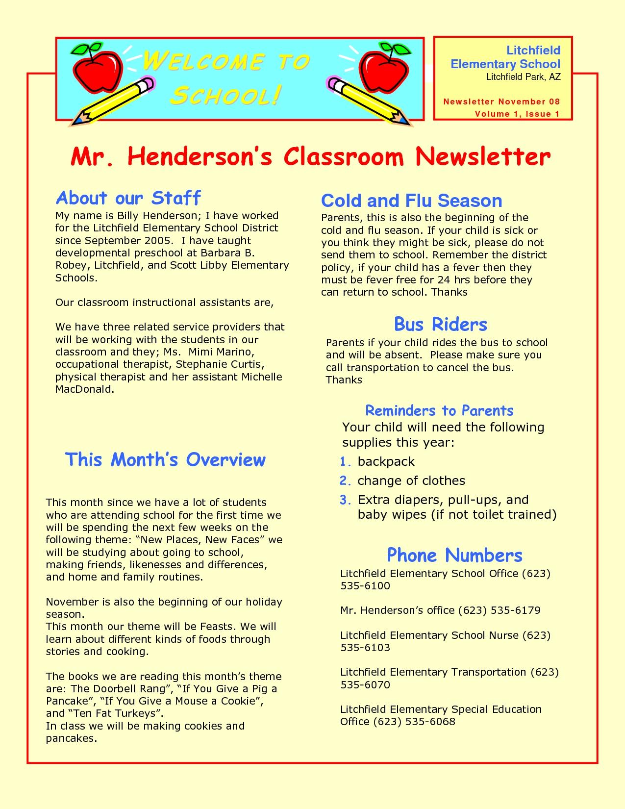 Pin Preschool Newsletter Samples Cake On Pinterest